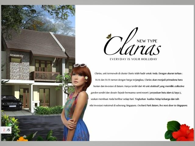 Rumah Orchard Park Tipe Clarias